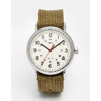 タイメックス メンズ 腕時計 アクセサリー Timex Originals Weekender Watch With Nylon Strap Green