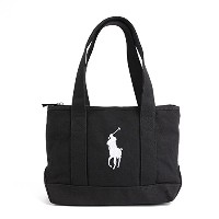 (ポロ ラルフ ローレン)POLO RALPH LAUREN POLO PONY TOTE MEDIUM トートバッグ RA100029 BLACK/WHITE