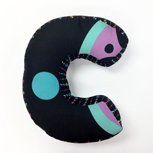 "One Grace Place Magical Michayla Letter Pillow ""C"", Black, Purple and Turquoise by One Grace Place [並行輸入品]"