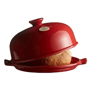 "Emile Henry made in France Flame Bread Cloche 13.2 x 11.2"" レッド 345508"