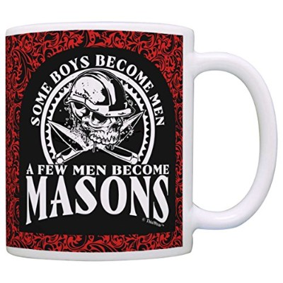 DadギフトSome Boys Become Men Few Become Masonsギフトコーヒーマグティーカップ 11オンス