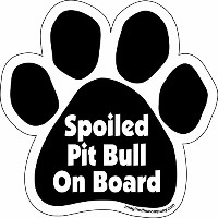High quality Paw Car Magnet, Spoiled Pitbull on Board, 5-1/2-Inch by 5-1/2-Inch