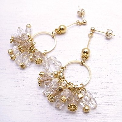 メモリスタジオ[MEMORI STUDIO] [ DEW SERIES #003 ] Small circle swing pierced earring de-86-me-04