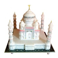 "9"" Marble Indian Souvenir Collectible Handicraft Taj Mahal / Tajmahal Replica by Stonkraft [並行輸入品]"