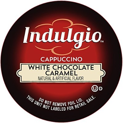 Indulgio Cappuccino, White Chocolate Caramel, 12-Count Single Serve Cup for Keurig K-Cup Brewers by...