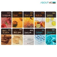 (アバウトミ マスクパック) About Me Essential Facial Mask Sheet 22ml Pack of 10 100% Cotton Sheet
