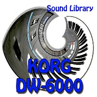 KORG DW-6000 Original Factory & New Created Sound Library/Editors on CD
