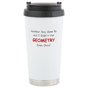 CafePress–Another Day Gone By and I Didnt使用ジオメトリEven–ステンレス鋼旅行マグ、断熱16オンスコーヒータンブラー