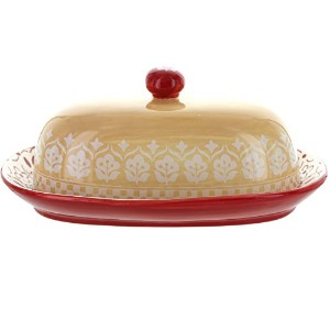 General Store Hollydale Butter Dish with Lid–( Hand Painted–Durastone )