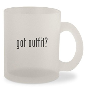 Got Outfit ?–Frosted 10ozガラスコーヒーカップマグ
