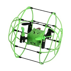 owill Helic Max Sky Walker 13362.4GHz 4CH RCクアッドコプター3dフリップラウンド形状Flying保護 One Size グリーン OW092204GN