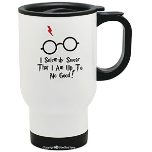 I Solemnly Swear That I Am Up To No Good新しいFunny Harry Potter InspiredウィザードTravel Mug by BeeGeeTees...