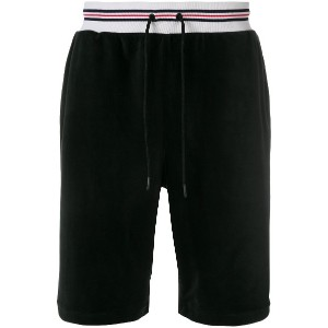 Fila drawstring knee-length shorts - ブラック