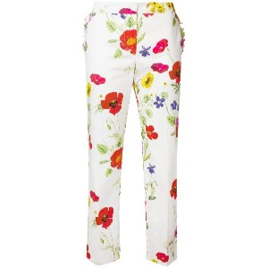 Blugirl floral print cropped trousers - ホワイト