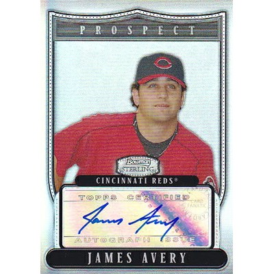 MLBカード【ジェームズ エイブリー】2007 Bowman Sterling Prospects Autograph Refractors 199枚限定! (181/199)(Wendell...