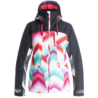 ロキシー レディース スキー・スノーボード アウター【Wildlife Snowboard Jacket】Pop Snow Ocean Spray/ Granatina