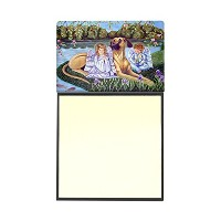 【Caroline 's Treasures Angels with Great Dane詰め替え可能Sticky NoteホルダーまたはPostit Noteディスペンサー、3.25 by 5...