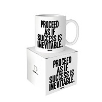 Quotableカード – Proceed As If成功は避けられません – 14-oz Mug withギフトボックス