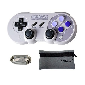 Mcbazel 8Bitdo SN30 Pro BluetoothワイヤレスコントローラーNS switch・Windows・Android・macOS ・Steam 用 収納袋付き
