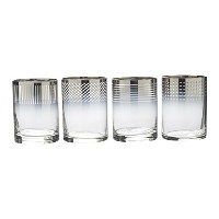 Mikasa Cheers Metallic Ombre Double Old Fashioned Drinking Glass, 13-Ounce, Set of 4 by Mikasa