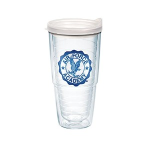 Tervis US Air Force Academyエンブレム個別タンブラーwith Frosted蓋 24-Ounce クリア 1098561