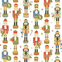 Entertaining with Caspari Continuous Roll of Gift Wrapping Paper, Nutcracker Parade, 8-Feet, 1-Roll...