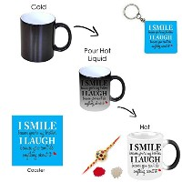 Yaya Cafeお誕生日ギフトBrotherノベルティ、I Smile Because You 're My Brother Hamper Set of 3 with Magic Mug for...
