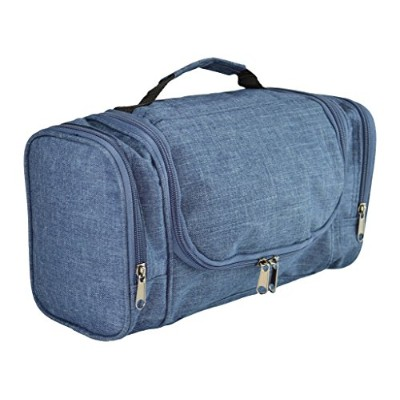 DALIX Travel Toiletry Kit Accessories Bag, Navy Blue by DALIX