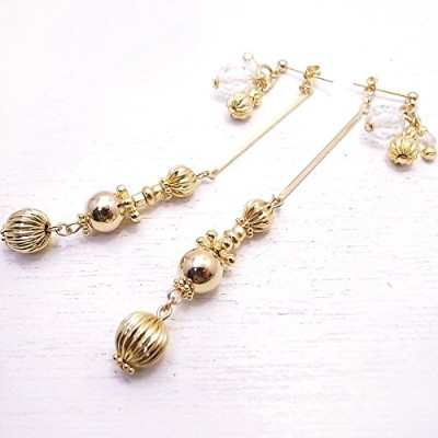 メモリスタジオ[MEMORI STUDIO] [ DEW SERIES #002 ] Dripping 2way pierced earring de-86-me-03