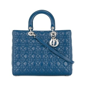 Christian Dior Pre-Owned Lady Dior Cannage トートバッグ - ブルー