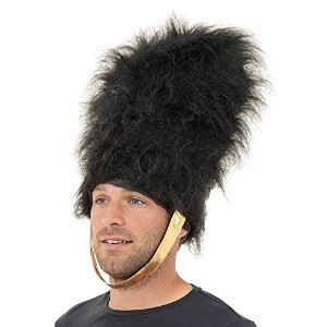 Bristol Novelty Black Bearskin Hat. Hats - Men's - One Size.