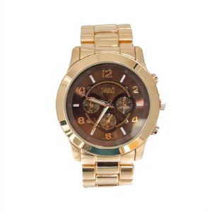 Swag Watch in Rose Gold with Tortoiseブラウン面