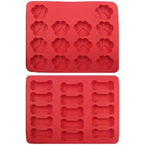 kingzhuo Dog Paws &ボーンケーキパンLargeシリコン犬Treats Baking Molds for Kidsペットdog-loversクッキーカッター100 %食品グレード