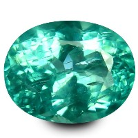 アパタイト ルーズジェムストーン 1.15 ct Oval Cut (7 x 6 mm) 100% Natural Un-Heated Paraiba Blue Color Brazilian...
