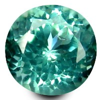 アパタイト ルーズジェムストーン 0.54 ct Round Shape (5 mm) 100% Natural Un-Heated Paraiba Blue Color Brazilian...