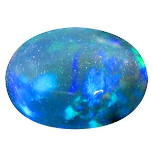 ブラックオパール ルーズジェームズ 1.40 ct Oval Cabochon Cut (9 x 7 mm) Multicolor Genuine Ethiopian Black Opal...