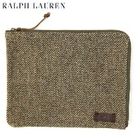 POLO Ralph Lauren Tweed Tablet Pouch US ポロ ラルフローレン ツイード ポーチ 小物入れ
