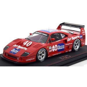 BBR 1:18 1990年IMSA フェラーリ F40 LM No.40 アクリルケース付きFERRARI - F40 TEAM ART SPORTS N 40 IMSA TOPEKA 1990...