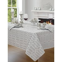 Creative Dining Group Shimmer Fabric Tablecloth, 60 by 84, Silver by Creative Dining Group
