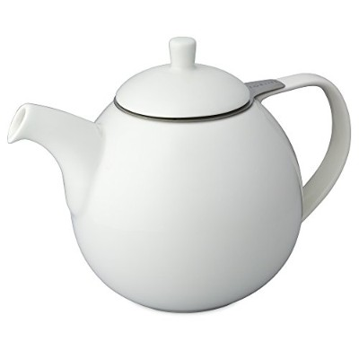 (White) - FORLIFE Curve 1330ml Teapot with Infuser, White