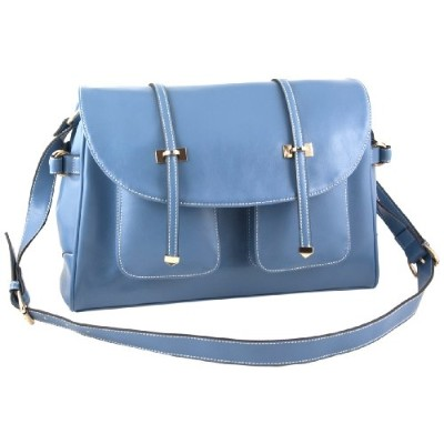 Yippydada Paris Real Leather Baby Changing Bag ( Blue )