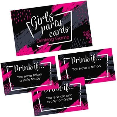 Girls Party Drinking Game Cards – 36 Funny & Naughty Adult Drink場合カードの誕生日、ナイトアウト、独身パーティーSupplies ...