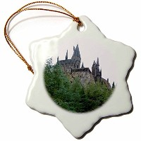3drose Lenas写真–フロリダ州–Castle Beautifully Standing Tall In Orlando–Ornaments 3 inch Snowflake...