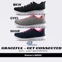 送料無料 skechers スケッチャーズ GRACEFUL-GRT CONNECTED 12615-GYCL/NVHP/BKW