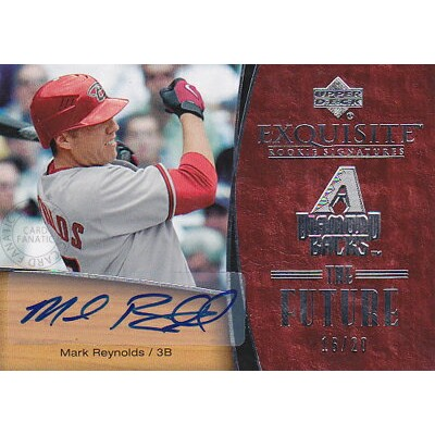 【マーク レイノルズ】 2007 UD Exquisite Rookie Signature The Future Autographs 20枚限定!(16/20)(Mark Reynolds) ...