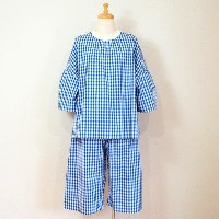 【sosotto A la maison】 Ladies' room wear SET ルームウェアセット / ギンガムブルー
