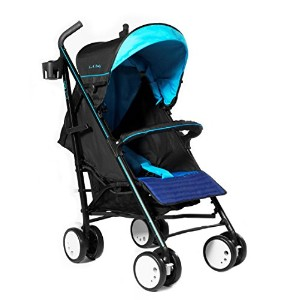 LA Baby Sherman Blvd Stroller, Blue/Black by LA Baby