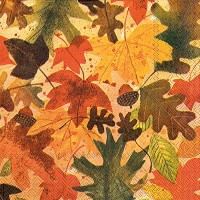 理想的なホーム範囲40 Count 3本Paper Lunch Napkins , Autumn Leaves