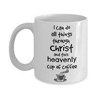 Best Jesus & Coffee Mug – 11オンス – I can do all things through Christ & Heavenlyコーヒー – The same電源:...