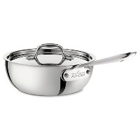 All-Clad 4213 Stainless Steel Tri-Ply Bonded Dishwasher Safe Saucier Pan with Lid / Cookware, 3...